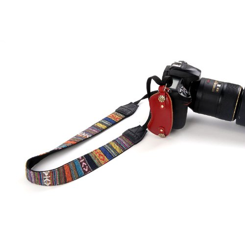 ZeWoo Bohemian Style Universal Kamera Schultergurt Trageriemen Kameragurt Cameragurt Neck Shoulder Strap Straps Belt für Digital SLR Einzel DSLR Camera von Canon Nikon Panasonic Sony Olympus Fujifilm usw.