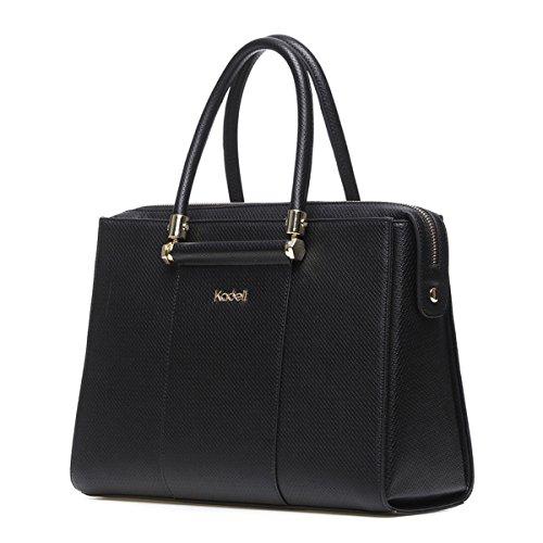 Kadell Frauen Luxus Leder Designer Handtaschen Top Griff Geldbörse für Damen Umhängetasche Schwarz (Damen-geldbörse High-end)