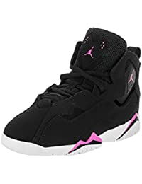 a4c96ebfa1c1 Jordan Nike Kids True Flight GP Black Fuchsia Blast White Basketball Shoe  11 Kids US