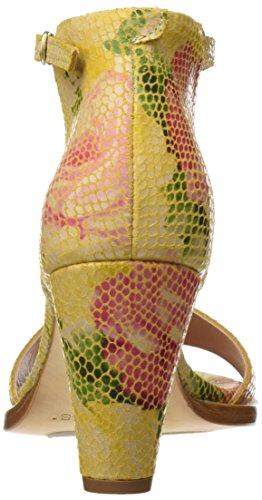Neosens S990 Fantasy Floral Yellow Montua, Sandales à Bride à la Cheville Femme Multicolore (Floral Yellow)