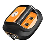 perfk Compresseur de Voiture Portable avec Lampe LED Compresseur d'air Électrique...