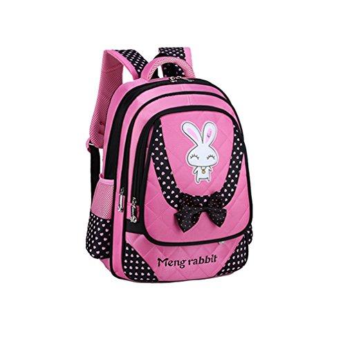 Smile YKK Cartoon Kinder Mädchen Schultasche Rucksack Backpack Kinderrucksack L Pink+Tasche Pink # L