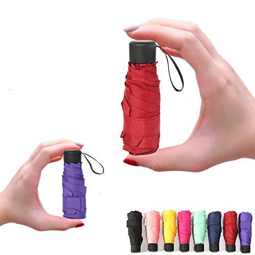 Las PC 1 púrpura paraguas mini bolsillo señoras