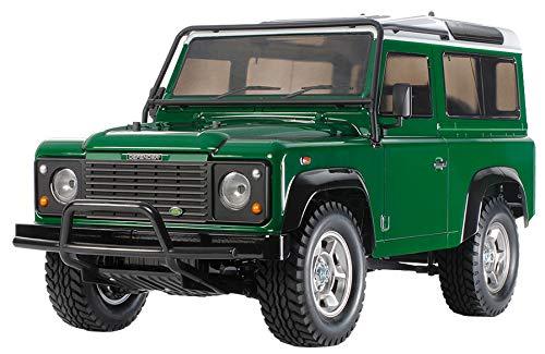 TAMIYA 58657 - 1:10 RC Land Rover Defender 90 CC-01, ferngesteuertes Auto/ Fahrzeug, Modellbau, Bausatz, Hobby, Basteln, Modell, Zusammenbauen