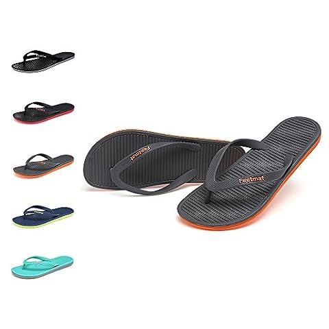 Qansi Beach Tongs Flip Flops Sandales Bout Ouvert 5 Couleurs Homme