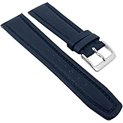 Graf Manufaktur Montana Replacement Band Watch Band Nappa Strap dark blue 26354S, width:19mm
