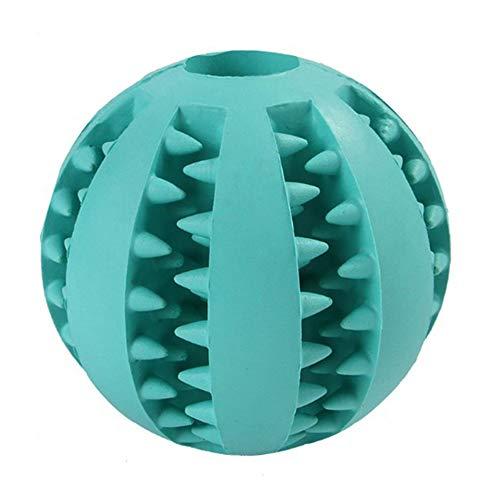 Fousamax Kauball für Hunde, Katzen, ungiftig, weiches Gummi, für Leckerlis, Trainingsball für kleine und mittelgroße Hunde -
