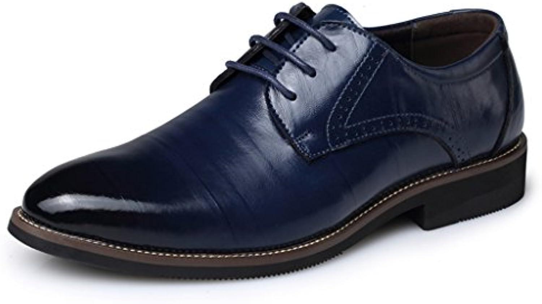 Eagsounitrade Herren Halbschuhe Derby Schnürhalbschuhe Leder Oxford Business Schuhe