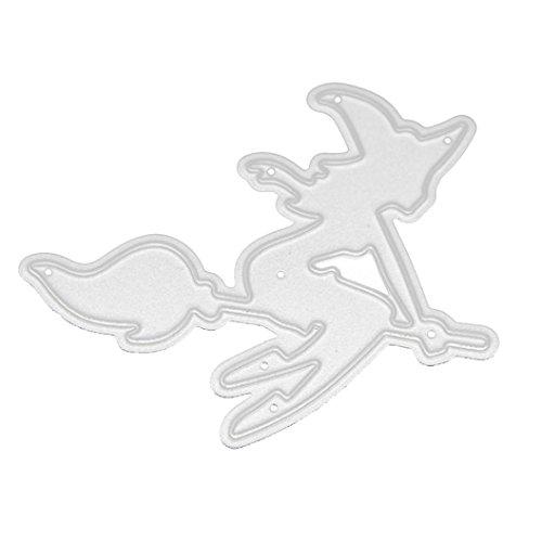 TWIFER Happy Halloween Schön Gehölz Form Schablonen oder DIY Scrapbooking Album Papier Karte, Stahl Schnittmuster DIY Sammelalbum, Stahl Lesezeichen als Geschenk (D:57.6x51.4mm, (D'halloween Diy Kostüm)