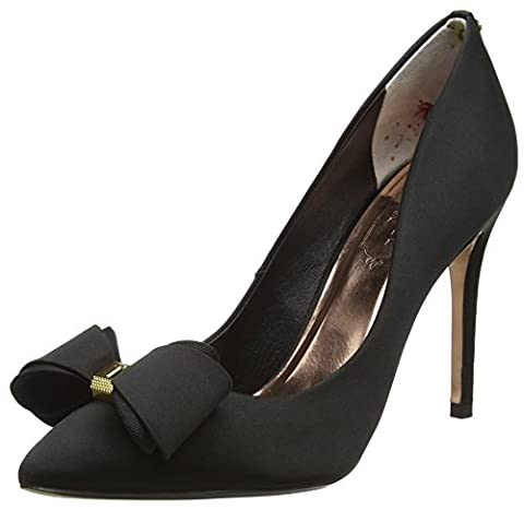 Ted Baker Damen Azeline Pumps, Schwarz (Black), 39.5 EU (Black Satin High Heel Pumps)