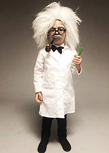 Kinder Größe Einstein Stil Mad Scientist Kostüm Small (4-6 - Albert Einstein Fancy Dress Kostüm