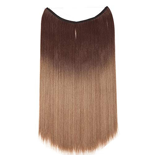 Extensión cabello ondulado hilo invisible