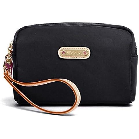 Ladies canvas clutch bag/Sacchetto cosmetico/ borsa casual fashion/Donne cerniera frizione