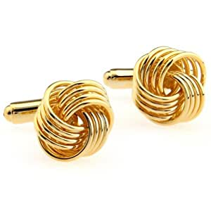 Gold Metal Knot Cufflinks for men