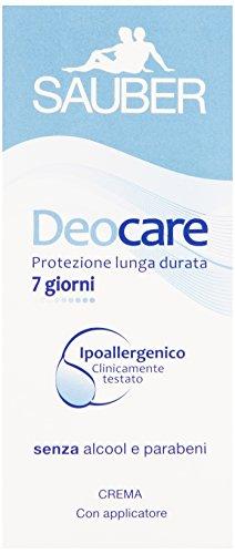 Sauber - Deocare Crema, Protezione lunga durata -  30 ml