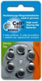 6 x Celitech® Power Hörgerätebatterien Größe 13 / ORANGE - Made in Germany