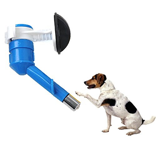 FLAMEER Pet Dog Dispenser Hanging Trinkkopf Welpen Wasserflasche Brunnen Feeder 1St - Blau -
