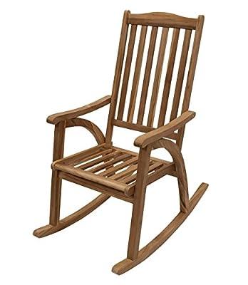 Landhaus Teak Holz Schaukelstuhl Schaukel Stuhl Gartenmöbel FSC Teakholz geölt 21250 NEU von NFP - Gartenmöbel von Du und Dein Garten