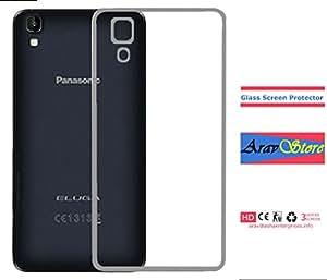 AravStore Transparent Back Cover, Tempered Screen for Panasonic Eluga A