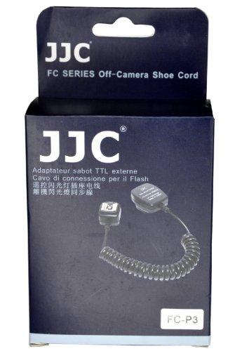 JJC FC-P3 TTL-Blitzkabel für Pentax Kameras und kompatible Aufsteckblitze 130 cm