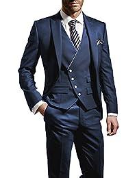 Suit Me 3 Parti Uomini Suit Slim Fit si adatta festa di nozze smoking giacca, gilet, pantaloni