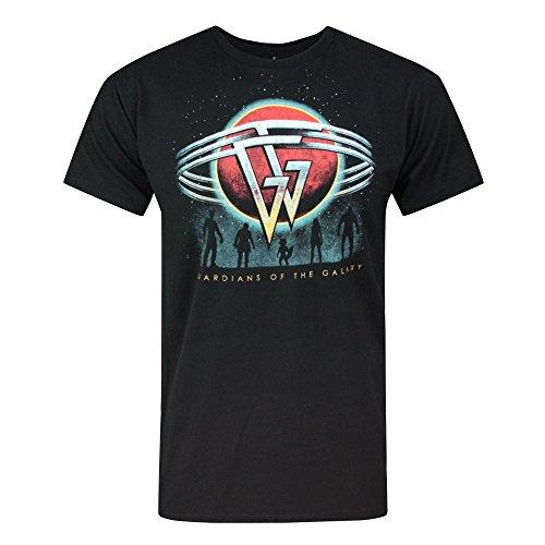 Guardians of the Galaxy offizielles Herren Planet T-Shirt (L) (Schwarz)