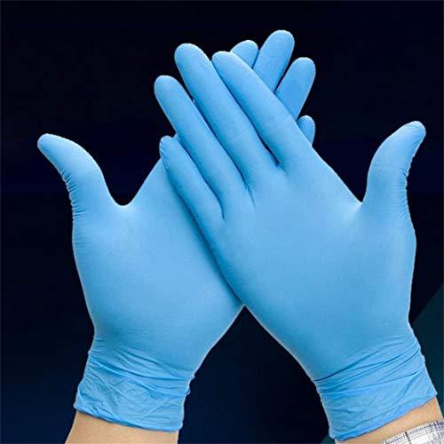 50 Paar blaue Nitril-Einmalhandschuhe tragen Widerstand Chemical Laboratory Elektronik Lebensmittel Medizinische Tests Arbeitshandschuhe