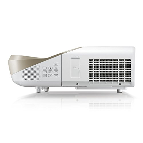 BenQ W1600UST 1080p DLP Home Cinema Projector  Ultra Short Throw  3300 Lumens  13000 1 Contrast Ratio with 2 x 10 W Speakers  HDMI