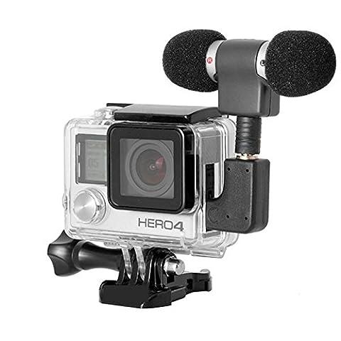 ehao Seite offen Schutz Skelett Gehäuse Fall mit LCD-Touch Hintertür für GoPro Hero 4