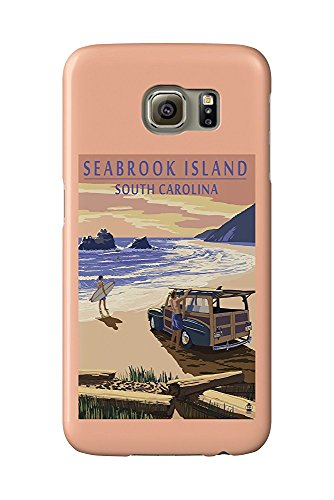 Seabrook Island, South Carolina - Woody On The Beach (Galaxy S6 Cell Phone Case, Slim Barely There) -