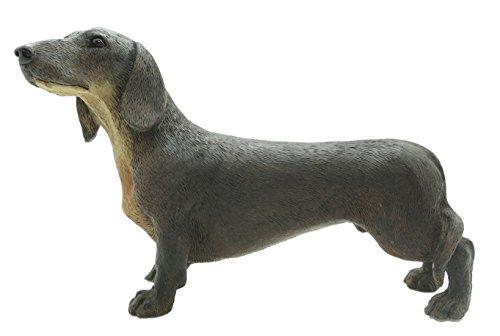 Teckel Figurine de chien saucisse Décoration chien Marron clair