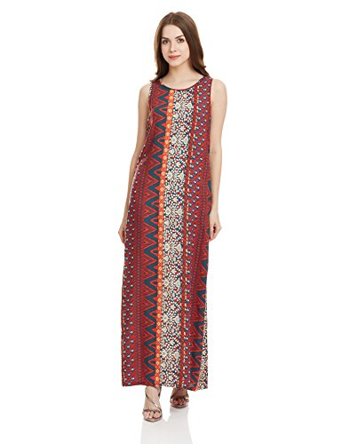 Global Desi Women's Pleated Dress (AW16R25707MX500_Print_Small)