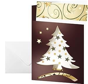 Sigel ds383 weihnachtskarten set mit umschlag din a6 10 st ck gestanzt mit einlageblatt - Weihnachtskarten amazon ...