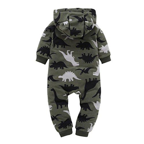 Koly infantil bebé Niños niñas más gruesa Imprimir Romper con capucha mono Ropa de Niños de la técnica (18M, Camuflaje)