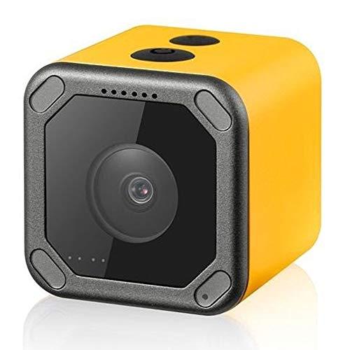 Mini Drohne Mit Kamera Mini FPV Kamera FOV 160 Grad WiFi Anti-Shake-DVR Action Cam for Fotografie im Freien RC Racing Drone Flugzeug (Farbe : Gelb, Größe : 38x38x36mm)
