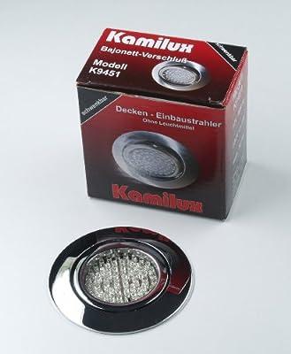 10 x LED Einbauleuchte Einbauspot Einbaustrahler Bajo 230V chrom inkl. Fassung GU10 u. LED Leuchtmittel 60er Tageslichtweiss von Kamilux GmbH