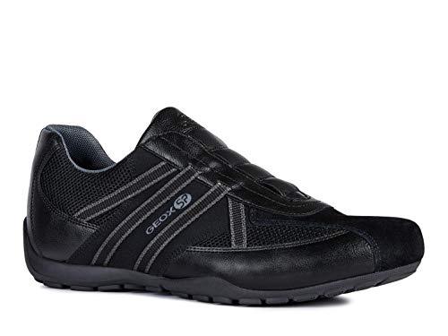Geox ravex u923fc uomo sneaker,scarpe da ginnastika,scarpe da cosa sportivi,scarpe sportive,slipon,signori scarpe,sneaker,pantofole,elastico,traspirante,nero,40 eu
