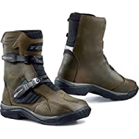 9922W - TCX Baja Mid Waterproof Leather Motorcycle Boots 44 Brown (UK 9.5)
