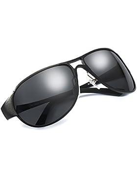 Hombre Aviador Polarizadas Gafas de Sol Ultraligero Metal 100% de Protección Contra los Rayos UVA/UVB Dañi