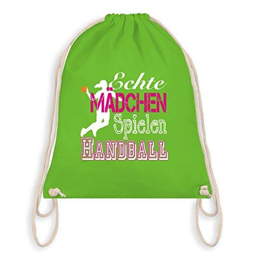 Handball - Echte Mädchen Spielen Handball weiß - Unisize - Hellgrün - WM110 - Turnbeutel & Gym Bag