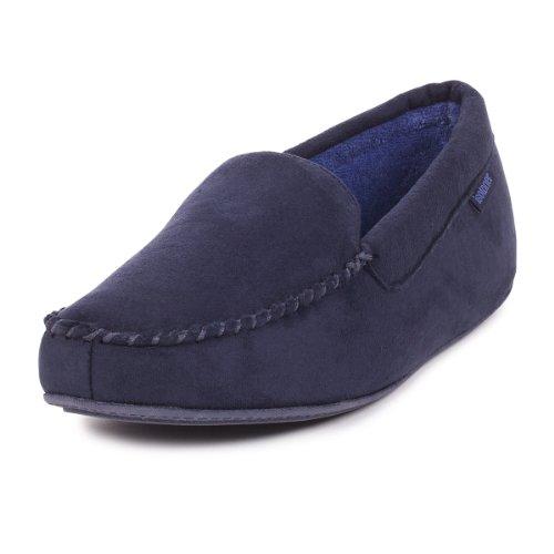 isotoner-herren-hausschuhe-blau-dunkelblau-grosse-large
