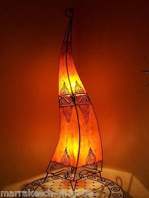 Marokkanische Hennalampe Marrakesch orange 120cm von Marrakesch bei Lampenhans.de