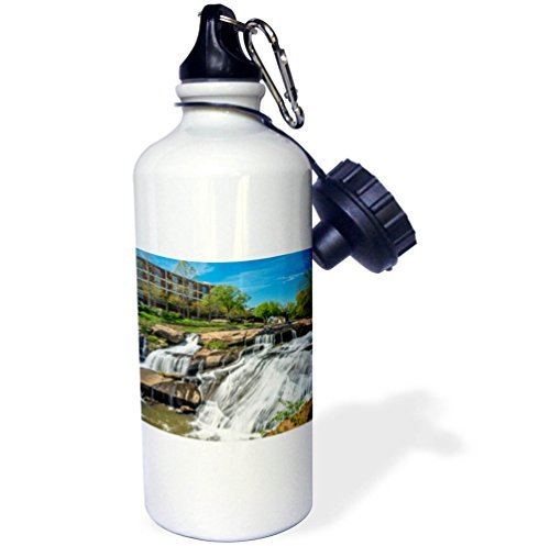 Sports Water Bottle Gift for Kids Girl Boy, Cities Of The World Greenville Falls Park South Carolina Stainless Steel Water Bottle for School Office Travel 21oz