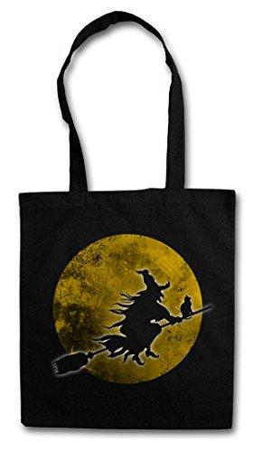 Urban Backwoods Witch Moon Hipster Bag Beutel Stofftasche Einkaufstasche