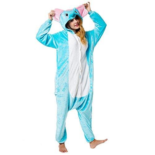 Katara 1744 -Elefant Kostüm-Anzug Onesie/Jumpsuit Einteiler Body für Erwachsene Damen Herren als Pyjama oder Schlafanzug Unisex - viele verschiedene (Kostüme Elefanten Erwachsene)