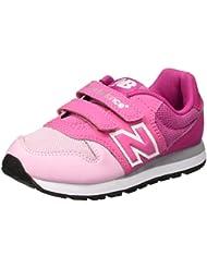 NEW BALANCE - Zapatillas deportivas color rosa y fucsia, en tela y cuero, con velcro 500, Niña, Niñas