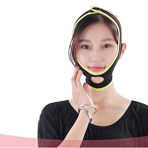 CY Dünne Gesichtsmaske, atmungsaktiver Schlaf Kleine V-Gesichtsmaske zur Verbesserung des straffenden Hautartefakts zur Reduzierung des Gewichtsverlusts durch Doppelkinnbinden (Size : L)