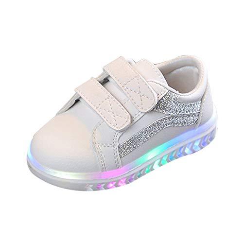 Bild von cinnamou Schuhe Kinder High Top LED Turnschuhe Blinkschuhe für Mädchen Jungen Unisex Laufende Sportschuhe Sneaker
