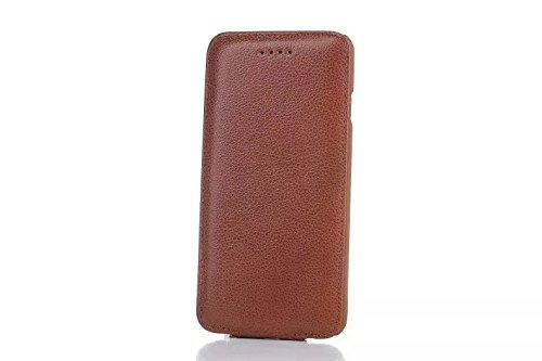 Vertikaler Flip Case, Luxus Premium Echtes Leder Gehäuse Shell Abdeckung Magnetverschluss Design Für IPhone 6 & 6s ( Color : Brown ) Brown