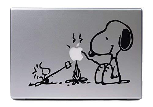 """Hellweg Druckerei Decal in deiner Wunschfarbe MacBook Air Pro 13\"""" Snoopy & Woodstock für Peanuts Fans 26x16,5 cm Laptop Aufkleber Sticker"""